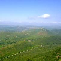 Panoramic view of the lush green from Sajjangarh - aptly called The Monsoon Palace