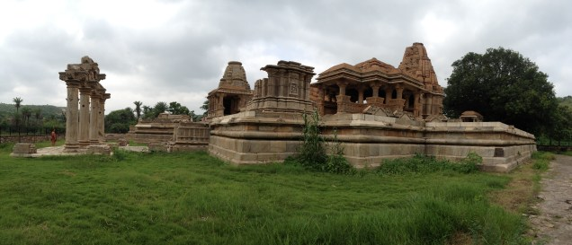 The 10th century temple complex in NAgda on the banks of the River Baghela