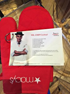 Recipe cards and oven mitt were available to all attendees.