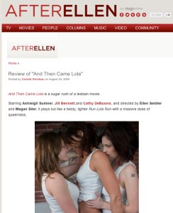 review of And Then Came Lola in AfterEllen.com