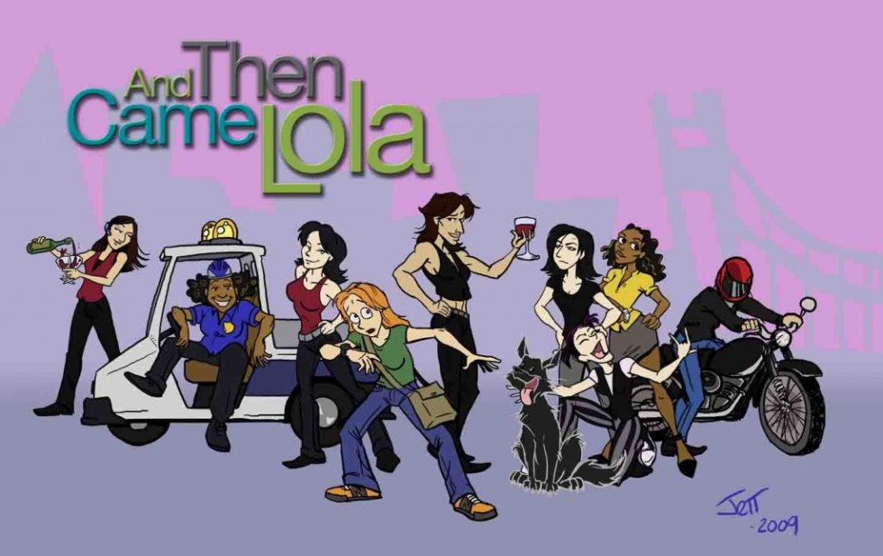 cartoon of the And Then Came Lola cast of characters