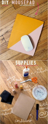 Make Your Own Mousepad - DIY Tutorial - And Then We Saved