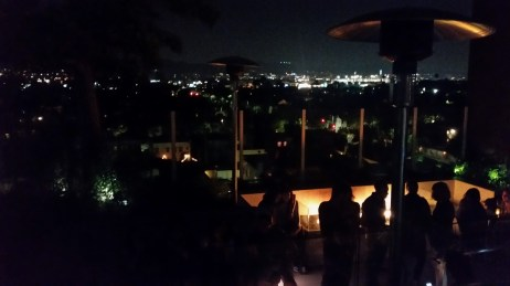 View for the rooftop bar at LA. Last night here!