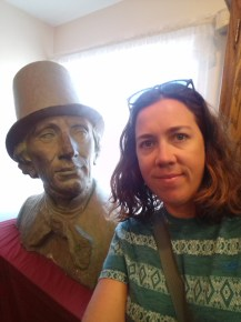 Charlene with Hans Christian Andersen at his museum in Solvang