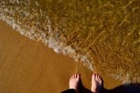 Triin dipped her toes in Lake Tahoe