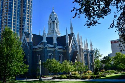 Mormon church in Salt Lake City, Utah