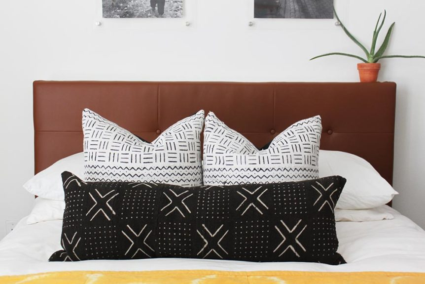 west elm inspired upholstered headboard DiIY