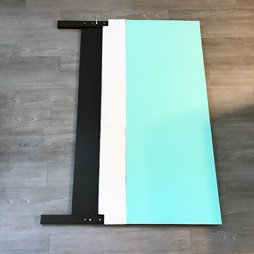 diy upholstered headboard and then we tried