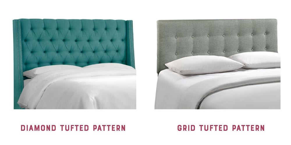 DIY headboard tufted patterns