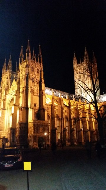 while working in Canterbury at night, I could see this beautiful church from my window!