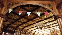 the ceiling as you enter the ballroom