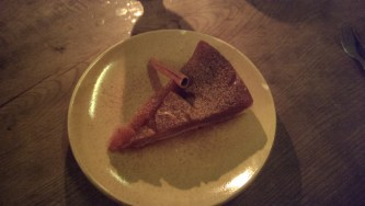 dessert was a pumpkin/fig cake