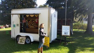 Standing in front the Military Band Organ