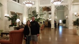 Me and my Dad in the Boardwalk's lobby
