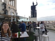 Up on the rooftop of the Circulo de Bellas Artes