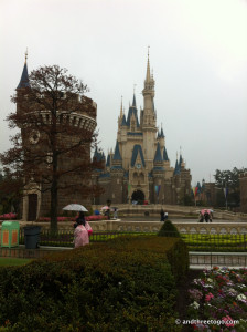 Cinderella's Castle with a view of the guard tower.
