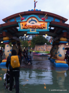 Toontown. Home of the first roller coaster than Zoë was bug enough to finally ride.
