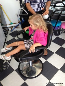 I don't know how she can sit for an hour and half to get her hair braided, but she does it!