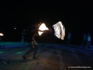 One of the poi performers.