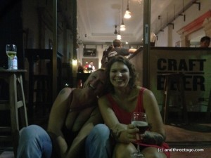Me and my friend, L at a craft beer night at Hackers and Founders by 908 in Phuket town. What a fun night!