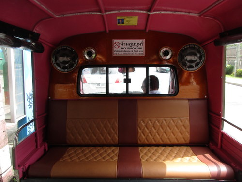 The view from inside a tuk tuk. Now if only I could somehow share how it feels being in the back of one of these while the driver practically careens off the road every turn. Exciting to say the least!