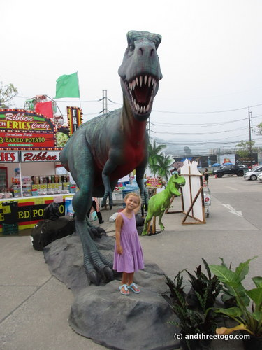 Z and the T-Rex.