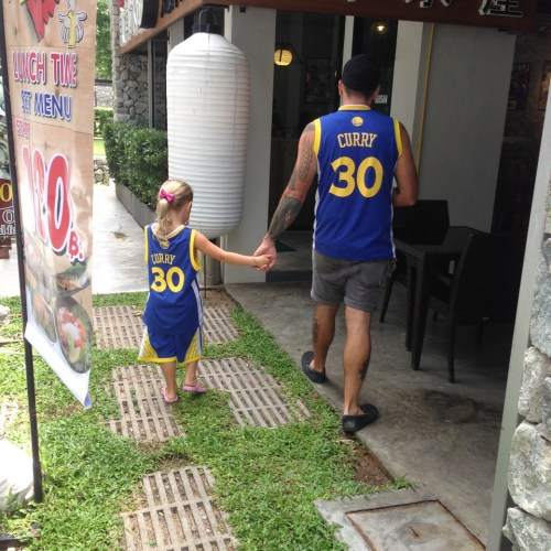 Representing the Golden State Warriors  in Phuket