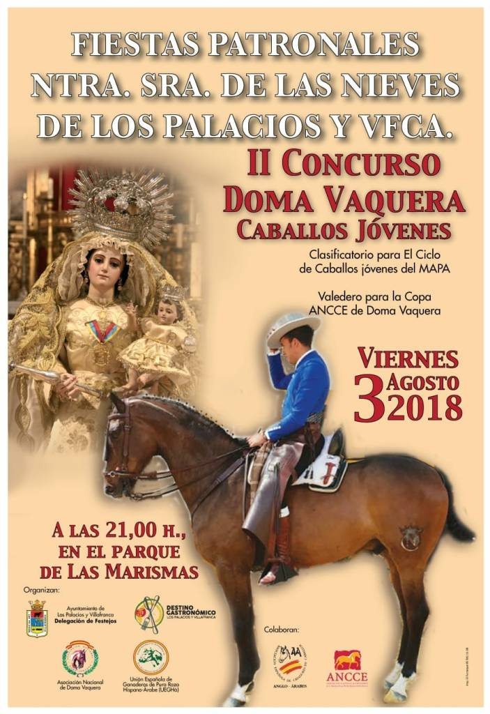Cartel II Concurso Doma Vaquera de Caballos Jóvenes
