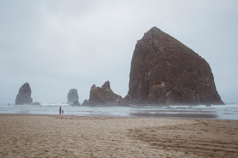 PNW Road Trip Haystack Rock Cannon Beach Oregon