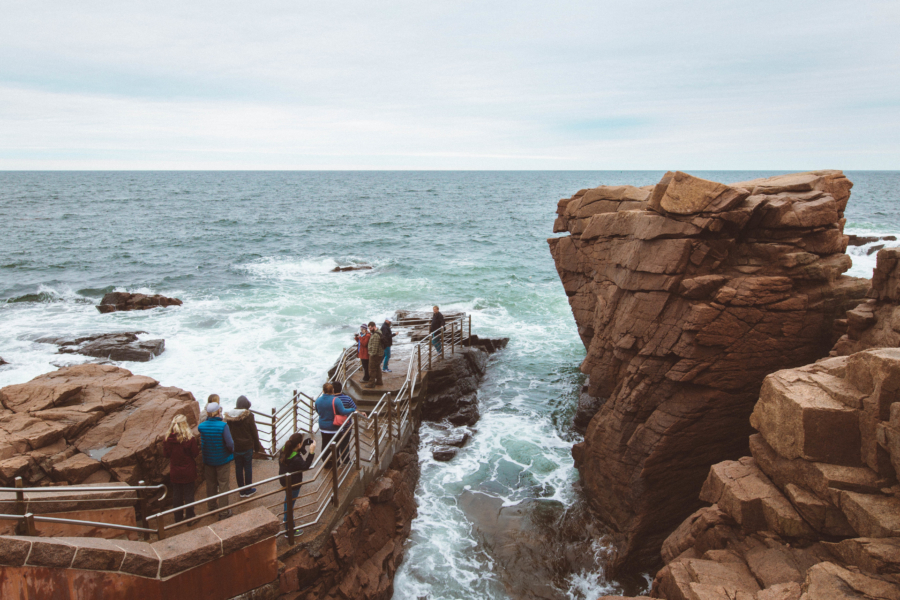 Maine Road Trip Acadia National Park Thunder Hole