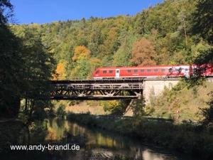 Fachwerk-Brücke im Pegnitz-Tal in Franken