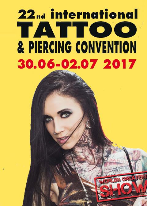 Termine - Dates: 22. internationalen Tattoo - und Piercing Convention in Dortmund vom 30. Juni - 02. Juli 2017