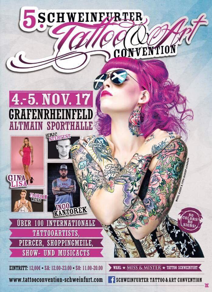 Termine - Dates: 5. Schweinfurter Tattoo & Art Convention