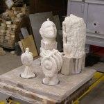 Casting aluminum sculpture.