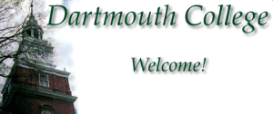 Welcome to Dartmouth College banner with Baker Tower