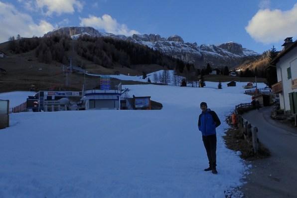 Low valley ski slope at Arabba