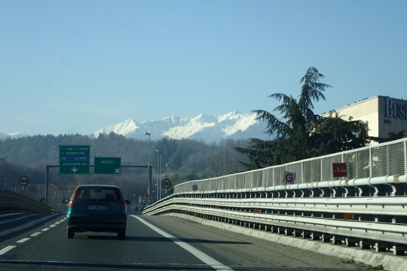 Appoaching the Alps and the Frejus tunnel