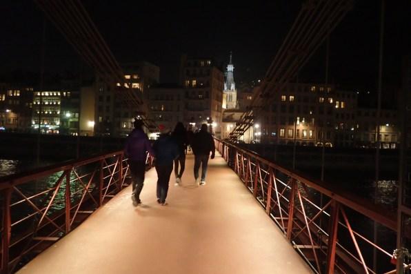 Crossing the Saone