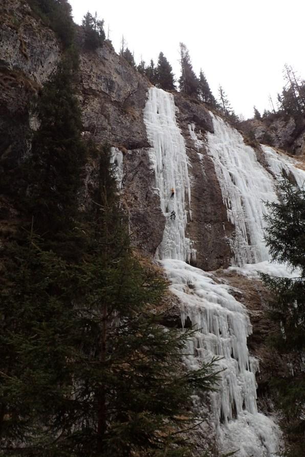 Ice-climbing in Sottoguda #4