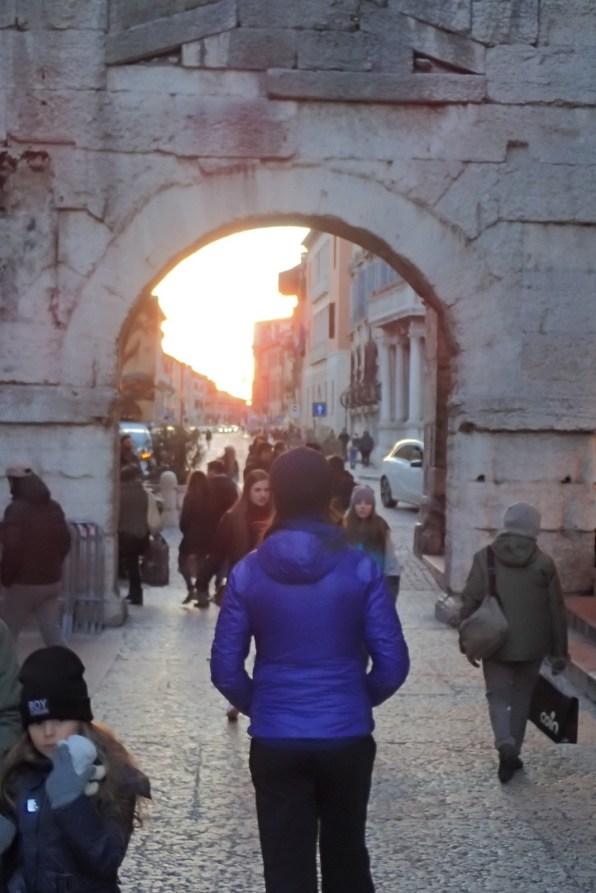 On of the many roman gates