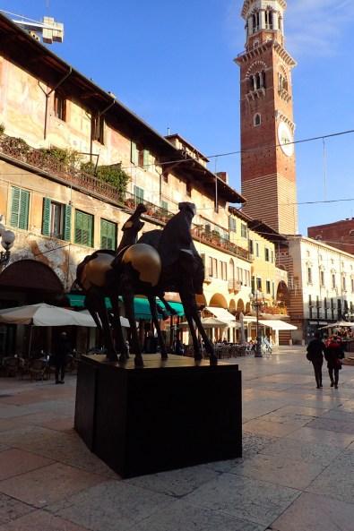 Modern art in Piazza Erbe