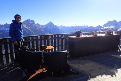 Our morning tea spot top of Cortina
