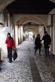 Covered cobblestoned laneways of Treviso