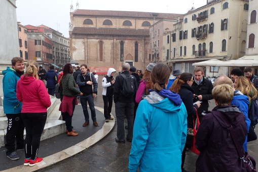 Meeting our tour group