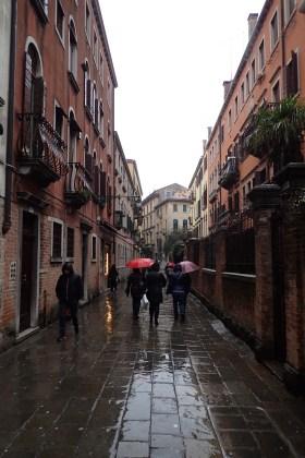 Venice streets in the rain#3