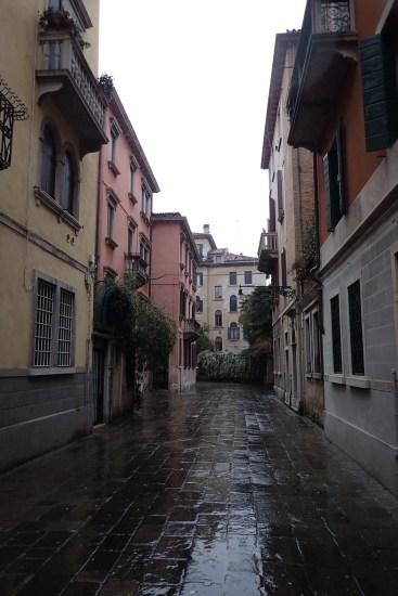 Venice streets in the rain#2