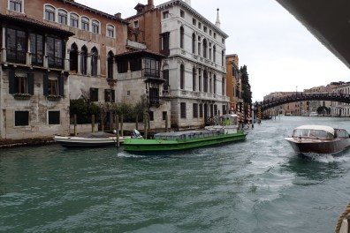 Busy Grand Canal - Garbage Truck