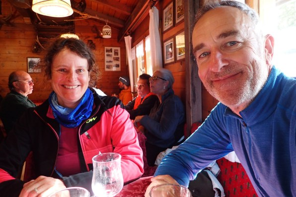 Lunch with Jane after XC skiing