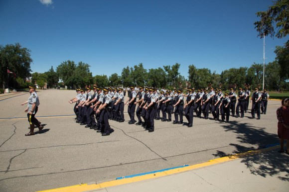 Senior Cadets departing on completion of the parade