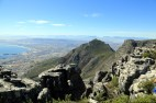 Landscape and rough edge atop Table Mountain
